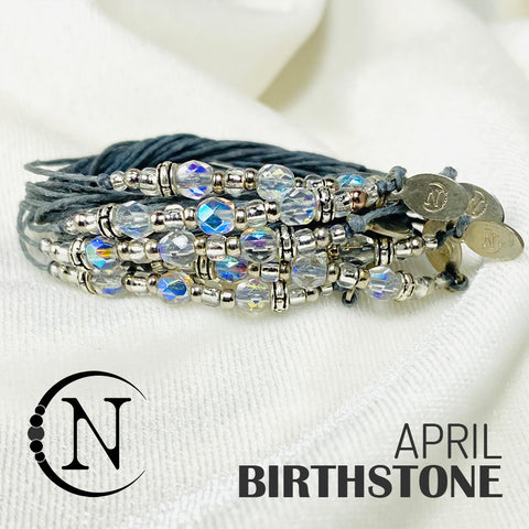 April Diamond NTIO Birthstone Bracelet