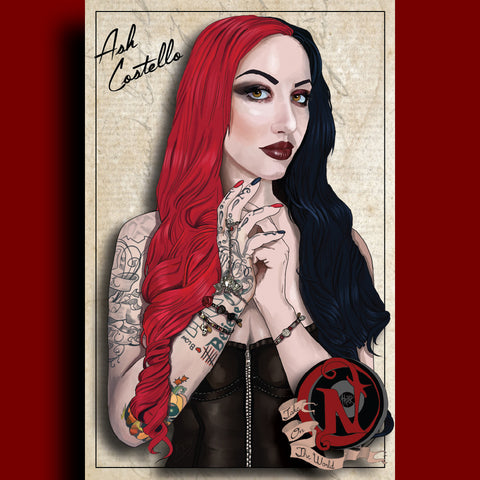 Ash Costello - ARTIST POSTER by XOBillie