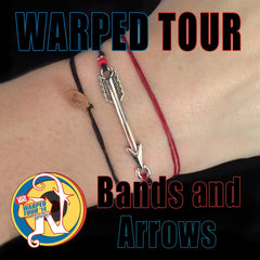 Red Bands and Arrows NTIO Bracelet by Vans Warped Tour