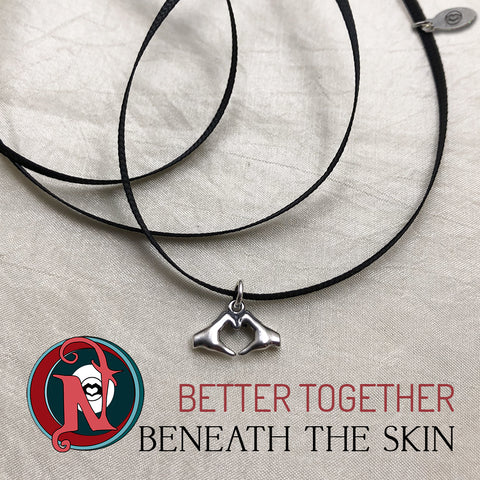 Better Together NTIO Choker/Bracelet by Beneath The Skin ~ Sterling Silver