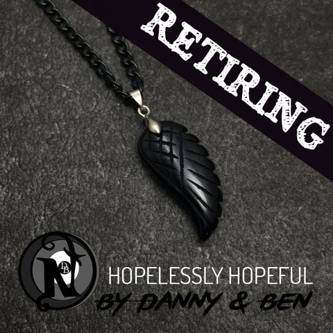 Black Hopelessly Hopeful NTIO Necklace Danny Worsnop & Ben Bruce Only 3 More!