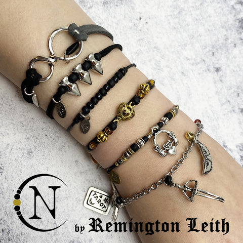 Black and Gold NTIO 6 Bracelet Bundle by Remington Leith