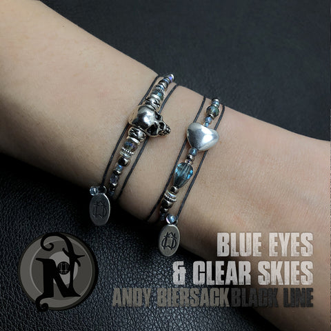 2 Bracelet Bundle ~ Blue Eyes and Clear Skies NTIO by Andy Biersack