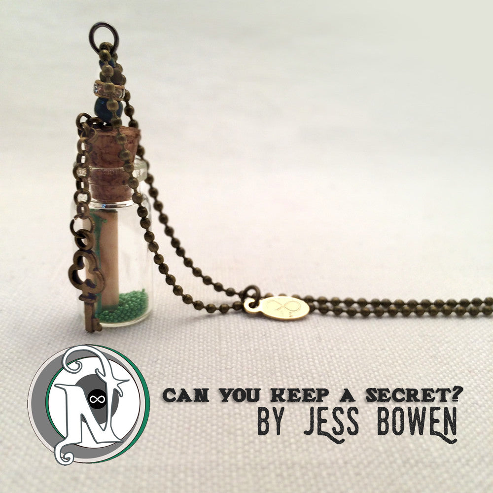 Can You Keep A Secret Vial Necklace by Jess Bowen
