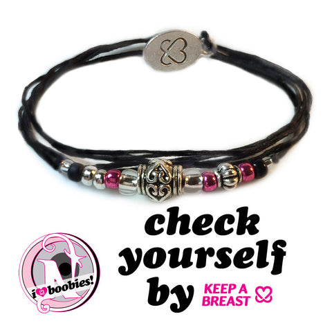 Check Yourself NTIO Bracelet by Keep a Breast