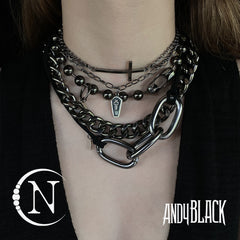 Bracelet & Choker Bundle ~ Gunmetal Against All Odds by Andy Biersack