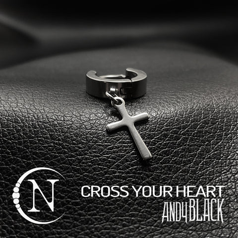 Cross Your Heart NTIO Earrings by Andy Biersack