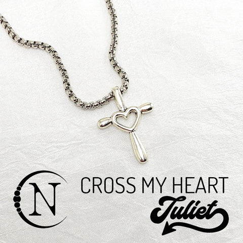 Cross My Heart NTIO Necklace by Juliet Simms
