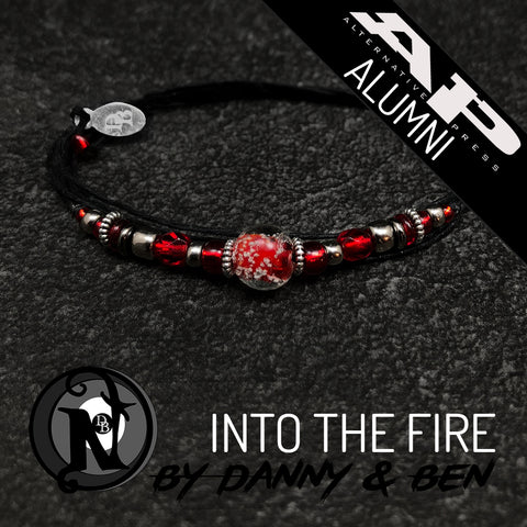 Red Into The Fire NTIO Bracelet Danny Worsnop & Ben Bruce ~ Alt Press Alumni