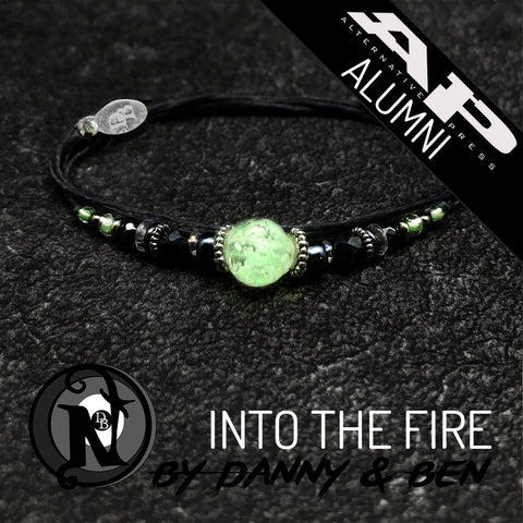 White Into the Fire NTIO Bracelet By Danny Worsnop and Ben Bruce ~Alt Press Alumni