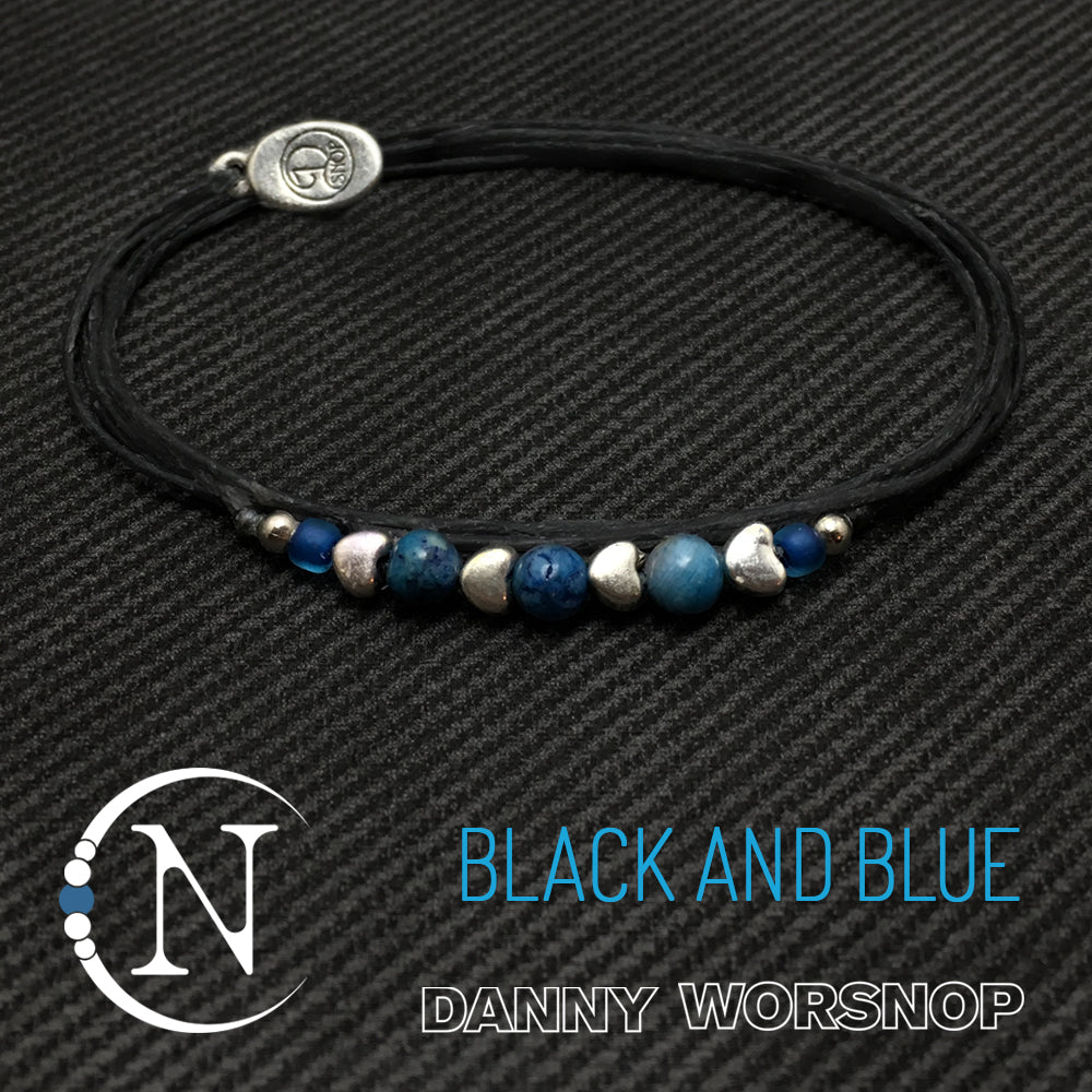 Black And Blue NTIO Bracelet by Danny Worsnop