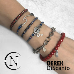Wash Away All the Thoughts Red NTIO Bracelet by Derek Discanio