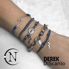 Blue ~ Wash Away All the Thoughts NTIO Bracelet by Derek Discanio