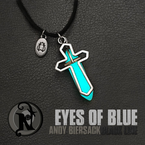 Eyes of Blue Glow in the Dark Necklace by Andy Biersack