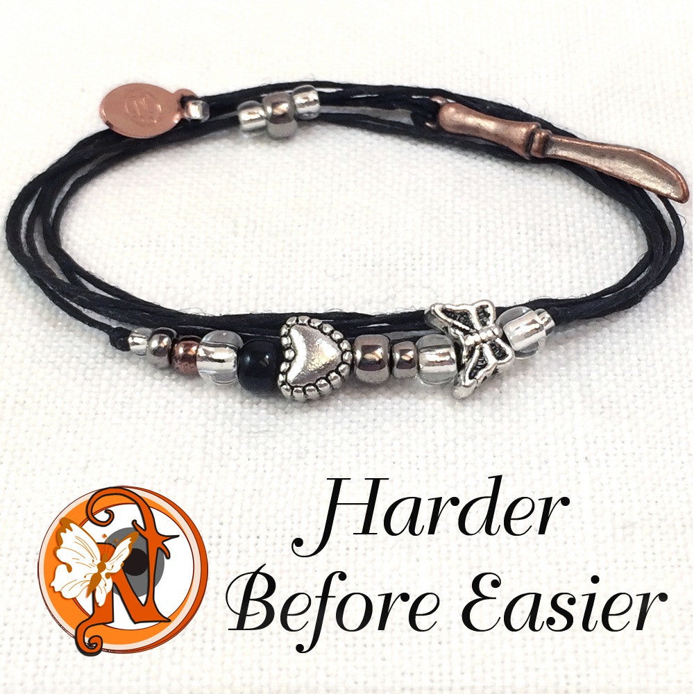 Harder Before Easier 6 months NTIO Butterfly Project Bracelet