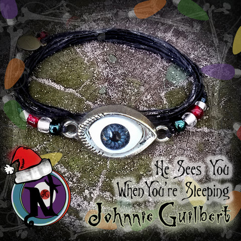 He Sees You When You're Sleeping Twisted Christmas Bracelet by Johnnie Guilbert