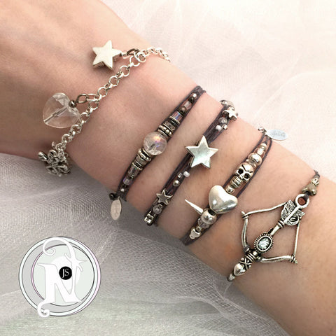 White Line 5 Piece Bracelet Bundle by Juliet Simms