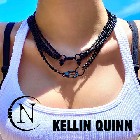 Kellin Quinn I'm Just Pissed 2 Piece NTIO Necklace/Choker Stack