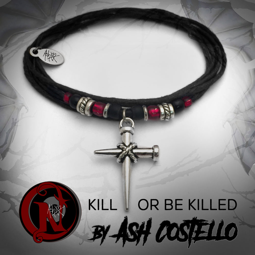 Kill or Be Killed Extra Thick NTIO Bracelet or Necklace by Ash Costello