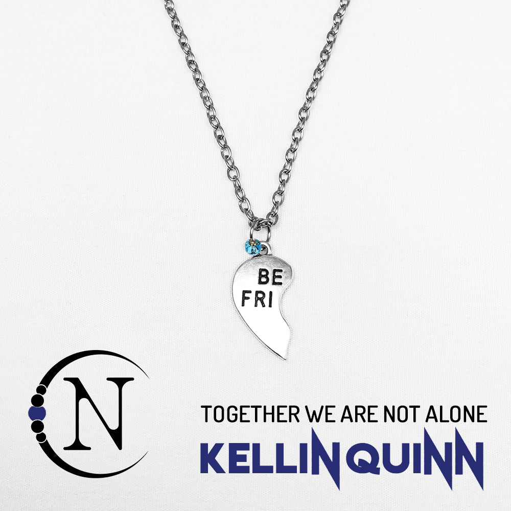 Together We Are Not Alone NTIO Necklace by Kellin Quinn - Left Side