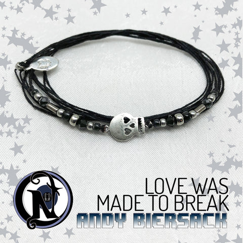 Love Was Made To Break Sterling Silver Bracelet By Andy Biersack