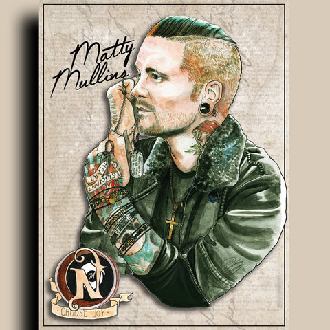 Matty Mullins - ARTIST POSTER by XOBillie