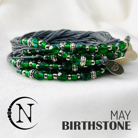 May Emerald NTIO Birthstone Bracelet