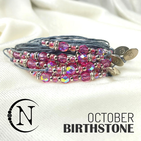 October Opal NTIO Birthstone Bracelet
