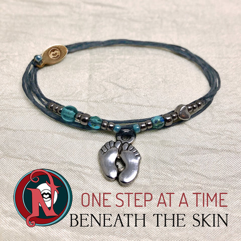 One Step at a Time NTIO Bracelet by Beneath The Skin