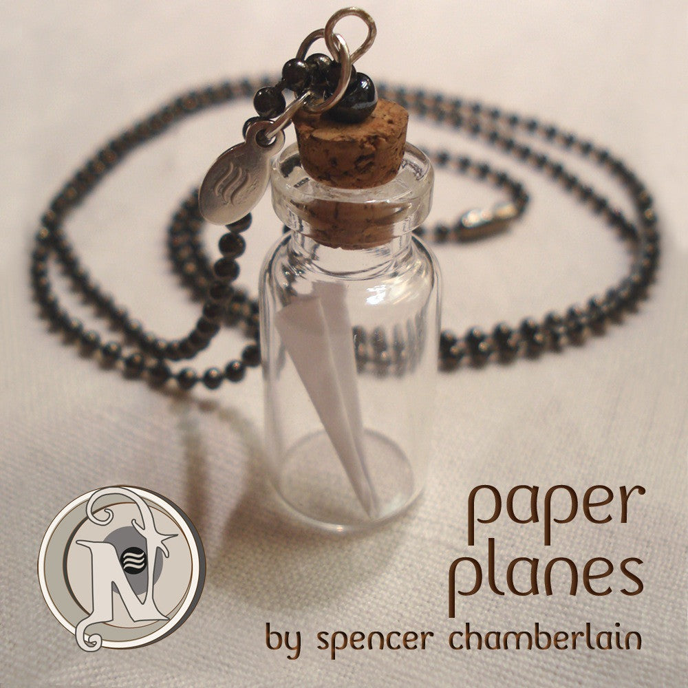 Paper Planes NTIO Vial Necklace by Spencer Chamberlain