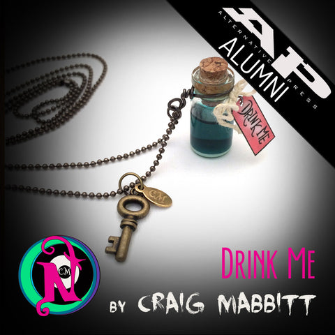 Drink Me NTIO Vial Necklace by Craig Mabbitt ~Alt Press Alumni