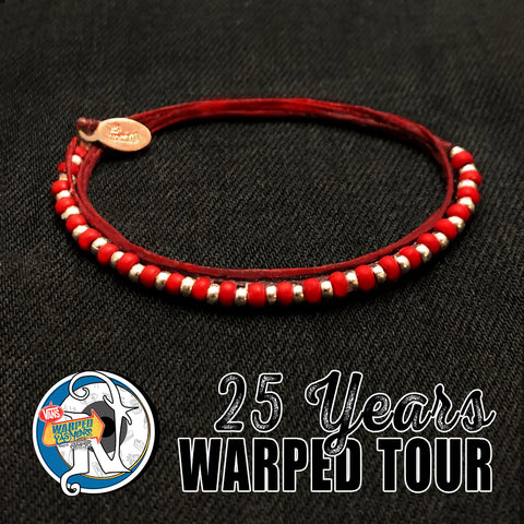 Red 25 Years NTIO Bracelet by Vans Warped Tour