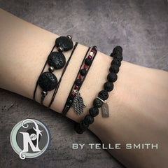 Red Clouds NTIO Bracelet by Telle Smith