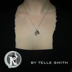 Necklace Red Clouds by Telle Smith