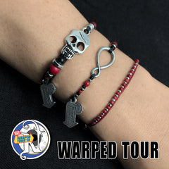 Red Coral 25 Years NTIO Bracelet by Vans Warped Tour