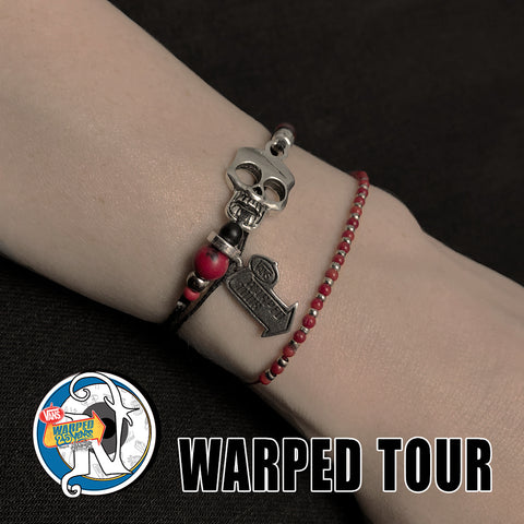 Red Coral 2 Bracelet NTIO Bundle by Vans Warped Tour