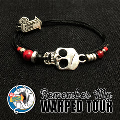 Red Remember My Warped Tour NTIO Bracelet by Vans Warped Tour