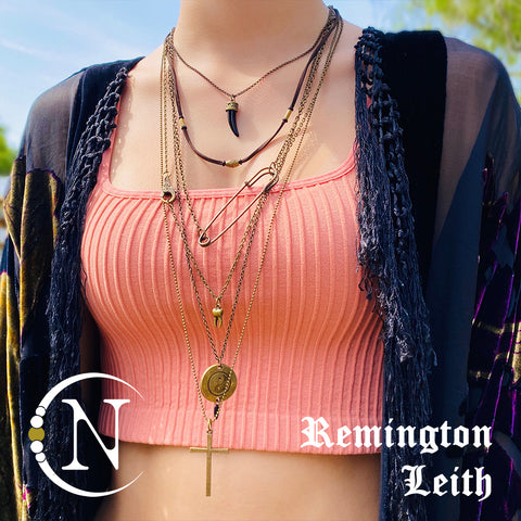 Remington Leith You're Fucking With My Head 6 Piece NTIO Necklace/Choker Stack