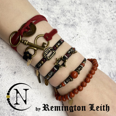 Black and Red NTIO 6 Bracelet Bundle by Remington Leith