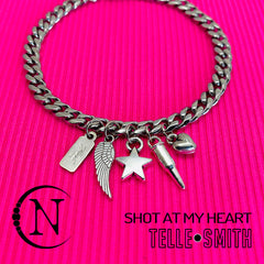 Shot At My Heart Charm Bracelet by Telle Smith