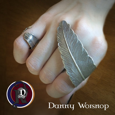 Call You My Owne Silver Feather NTIO Ring Cuff by Danny Worsnop