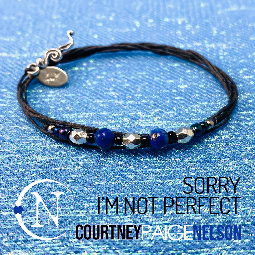 NTIO Bracelet ~ Sorry I'm Not Perfect by Courtney Paige Nelson