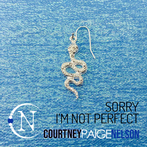 Earring ~ Sorry I'm Not Perfect by Courtney Paige Nelson