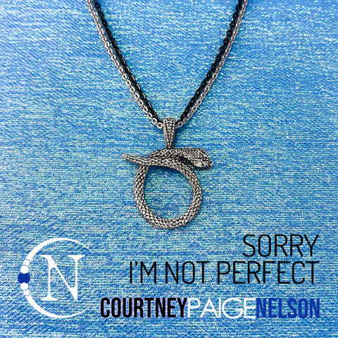 Necklace ~ Sorry I'm Not Perfect by Courtney Paige Nelson