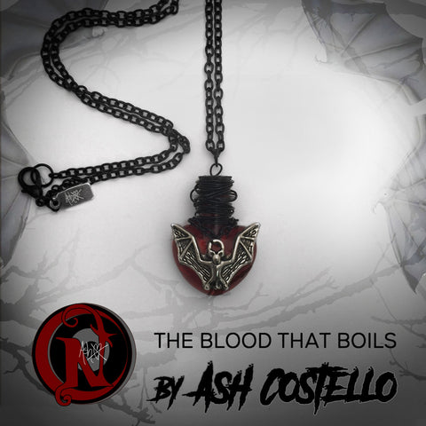 The Blood That Boils NTIO Heart and Bat Blood Vial by Ash Costello