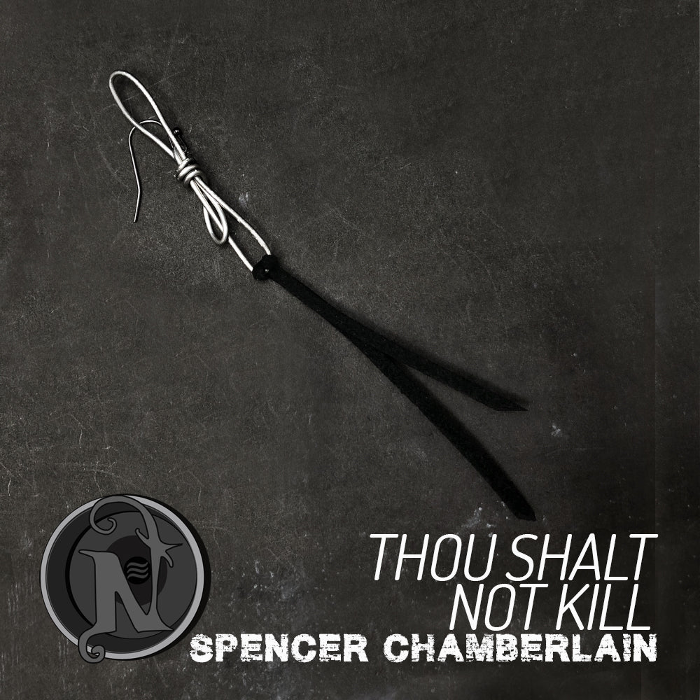 Thou Shalt Not Kill NTIO Earring by Spencer Chamberlain