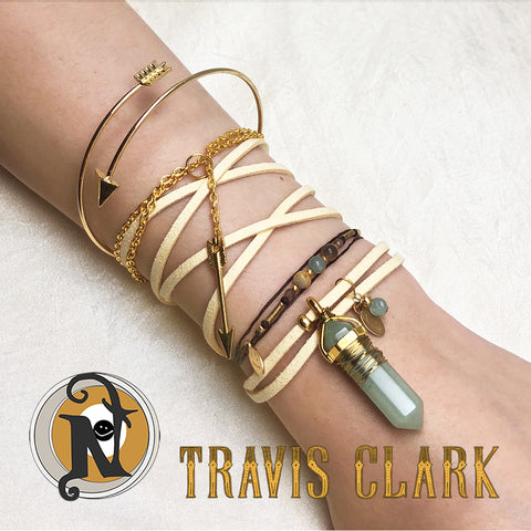 Travis Clark Don't Ever Look Back 4 Bracelet/Choker Bundle