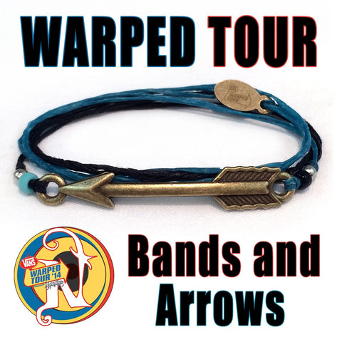Turquoise Bands and Arrows NTIO Bracelet by Vans Warped Tour