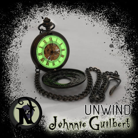 Unwind Glow in the Dark NTIO Pocket Watch Necklace/by Johnnie Guilbert ~ Limited Edition 25