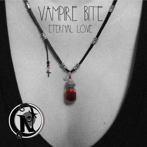 Vampire Bite Eternal Love NTIO Vial Necklace